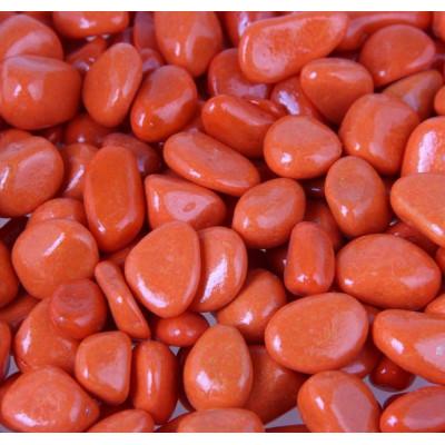 Декоративная галька оранжевая