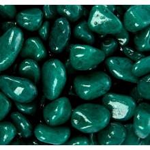 Декоративная галька зелёная