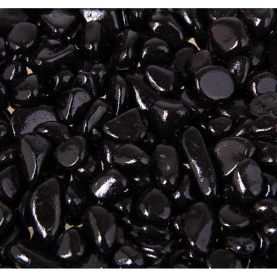 Декоративная галька цветная черная 5-10 мм (5-12 шт.)
